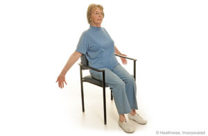 Chest Stretch ( Chair Exercises for the Elderly )