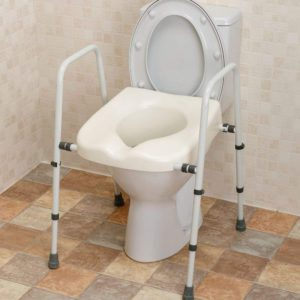 Mowbray Free Standing Toilet Seat & Adjustable Frame