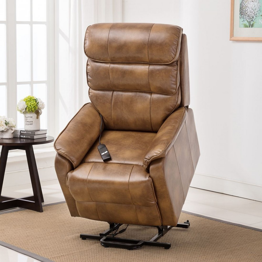 Buckingham Electric Leather Riser Recliner Armchair