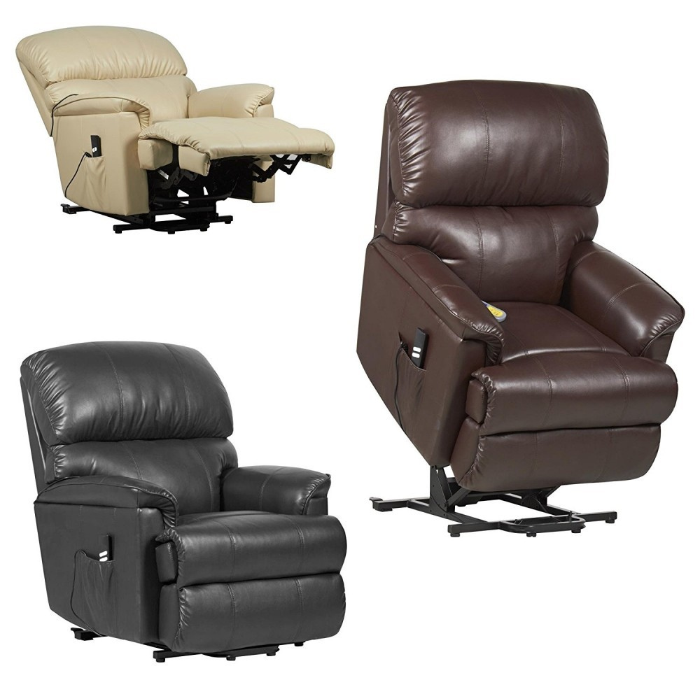 Canterbury Dual Motor Leather Electric Riser Recliner Chair