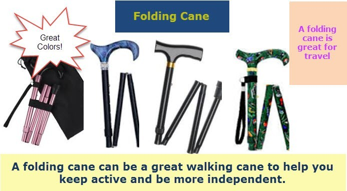 folding walking canes for men