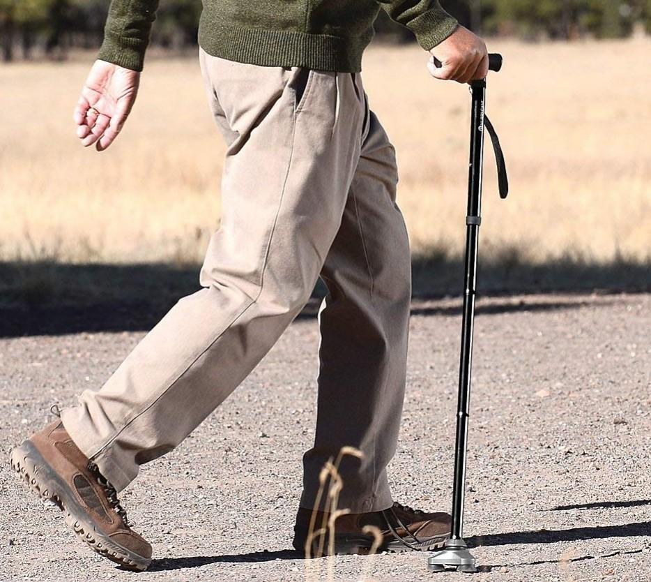 Hurrycane All-Terrain Cane Folding Walking Stick