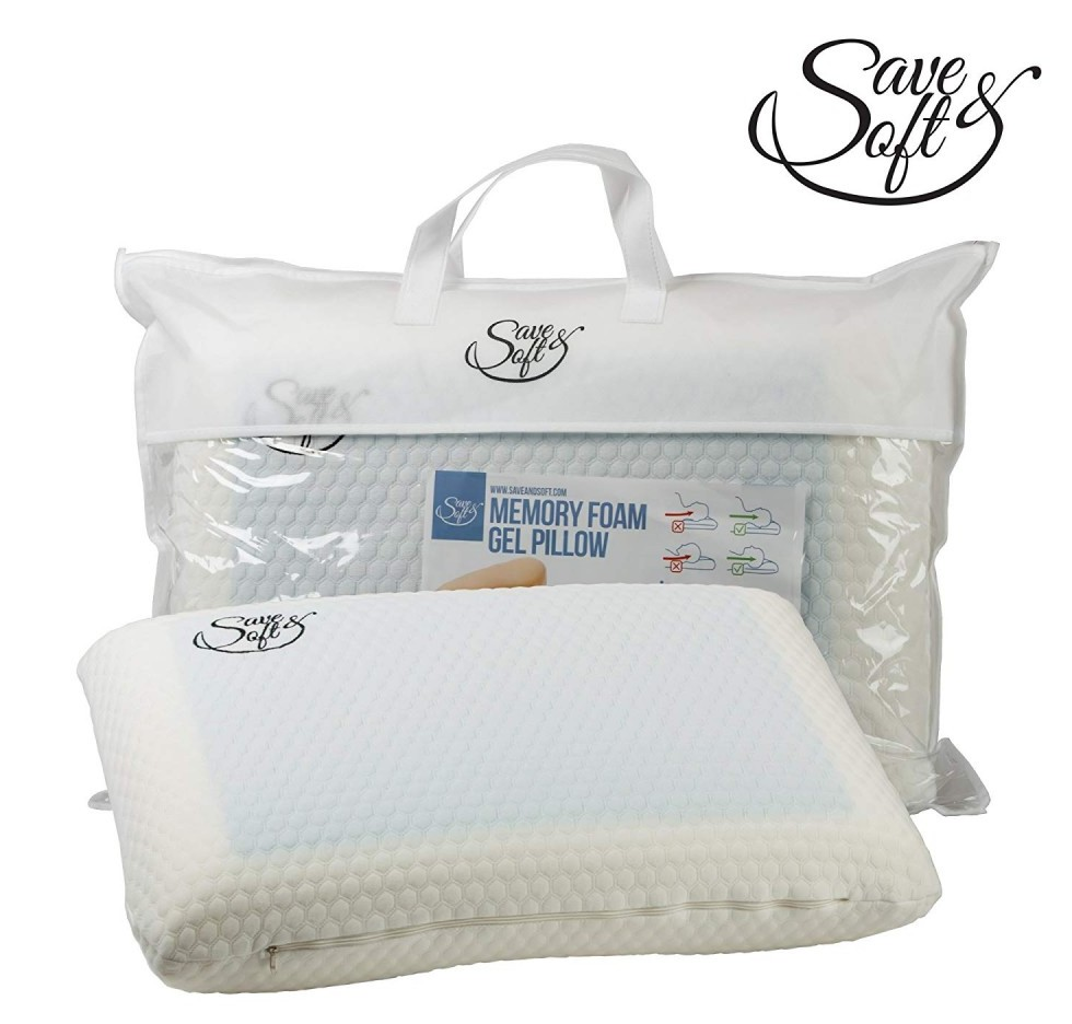 Ergonomic Orthopedic Gel Memory Foam Pillow