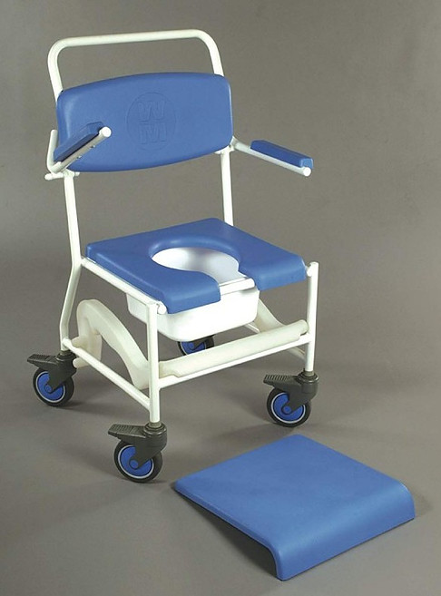 NRS Healthcare Mobile Shower Commode Chair