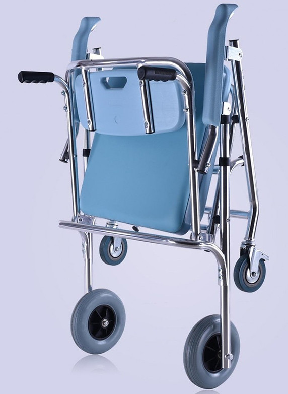 SHKD Folding Wheeled Shower Commode Chair