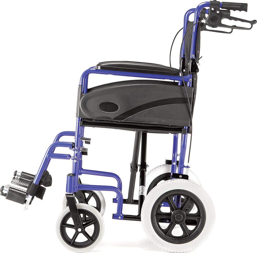 Dash Express Ultra Lightweight Folding Attendant Propelled Wheelchair