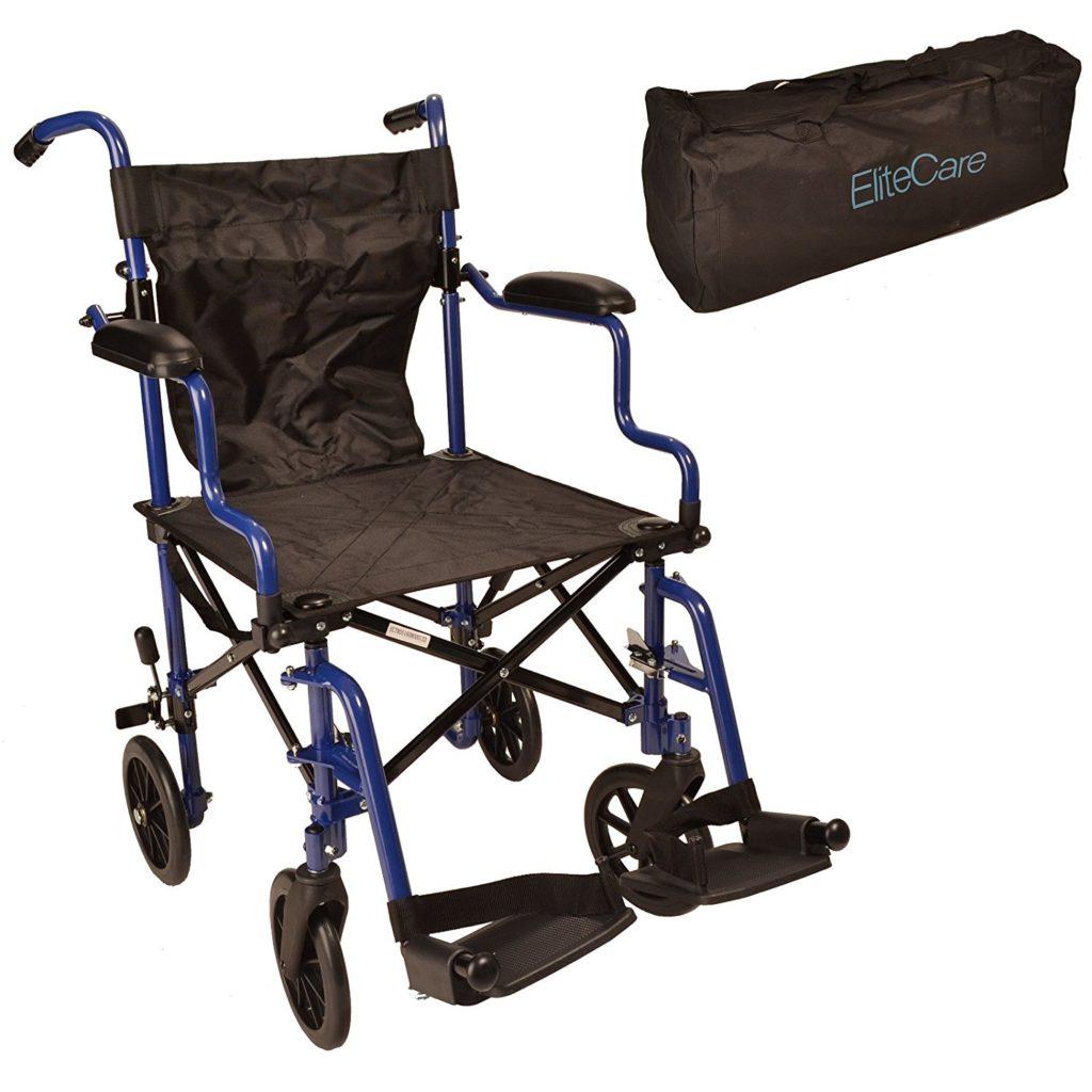 Super Lightweight Folding Transit Travel Wheelchair in a Bag