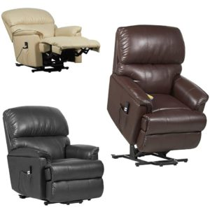 canterbury dual motor leather riser recliner chair