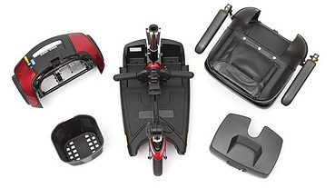 easily disassembles into 5 super lightweight pieces