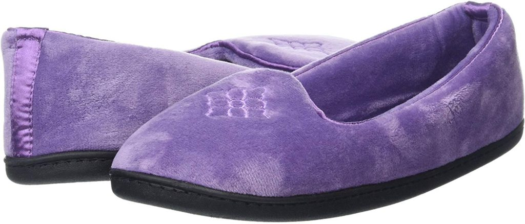 Dearfoams Women's Rebecca Microfiber Velour Closed Back Slippers