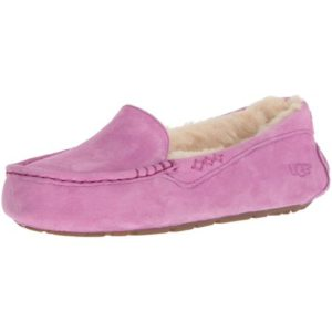 The comfortable Ugg Ansley Women's Suede Moccasin Slipper for indoors ans outdoors