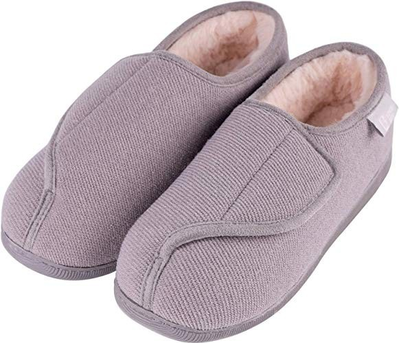 Longbay Women's Wide Fit Memory Foam Diabetic Slippers