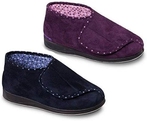 Padders Cherish Ladies Extra Wide Fit Velcro Full Slippers