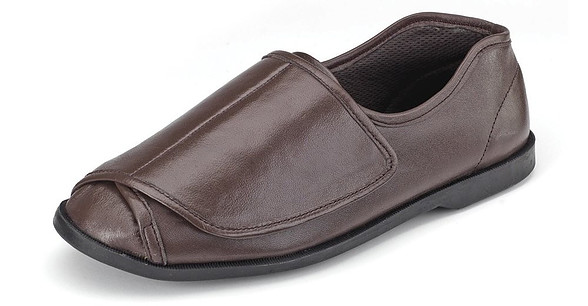 Clifford James Men's Very Wide Genuine Leather Shoe Slipper