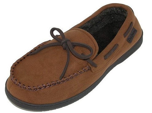 Dearfoam Men's Suede Moccasin Slippers