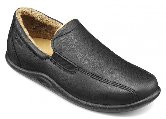 Hotter Men's Relax Low Top Leather Slippers