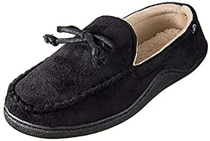 Isotoner Men's Microsuede Moccasin with Whipstitch