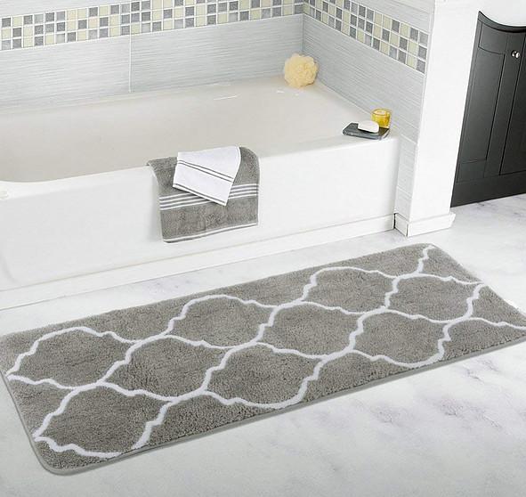 Homcomoda Bath Mats Microfiber Non-slip Bath Rugs for Bathroom