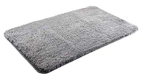 Luxury Grey Microfibre Non Slip Bath Mat