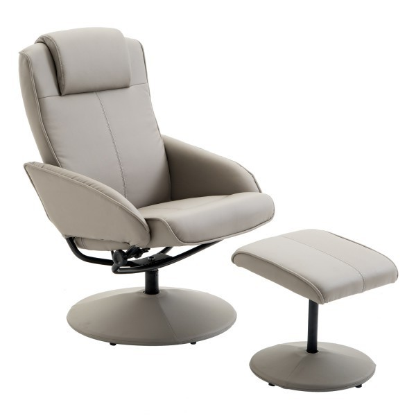 HOMCOM Adjustable PU Leather Recliner Swivel Executive Reclining Chair