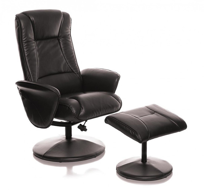 Morris Living Naples Chocolate Memory Foam Swivel Recliner Chair