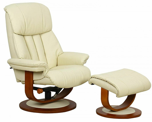 The Hereford - Genuine Top Grain Leather Swivel Recliner Chair