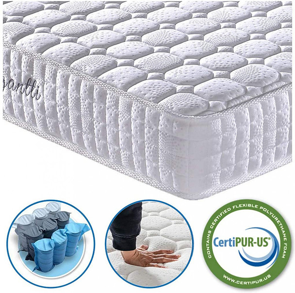 Vesgantti 4FT6 Double Mattress, 10.3 Inch Pocket Sprung Mattress
