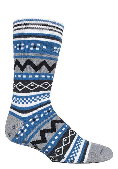 Heat Holders Mens Thick Winter Nordic Patterned Non Slip Thermal Socks